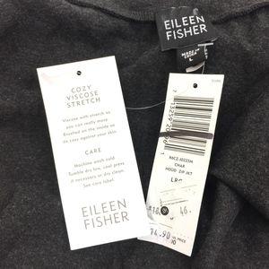 Eileen Fisher Tops - Eileen Fisher Gray Full Zip Hoodie - Cozy!